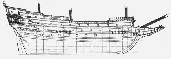 Теоретический чертеж судна «